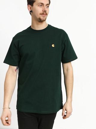 Carhartt WIP Chase T-shirt (bottle green/gold)