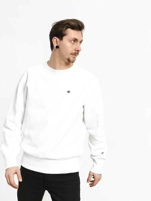 Champion Premium Reverse Weave Small Logo Crewneck Sweatshirt (wht)