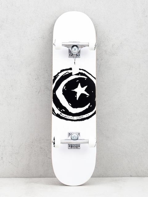 Foundation Star And Moon Skateboard (white/black)