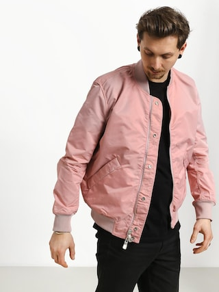 Diamond Supply Co. Panelled Bomber Jacket (pink)