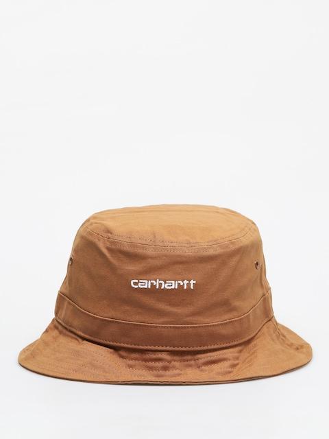 Carhartt WIP Script Hat (hamilton brown/white)