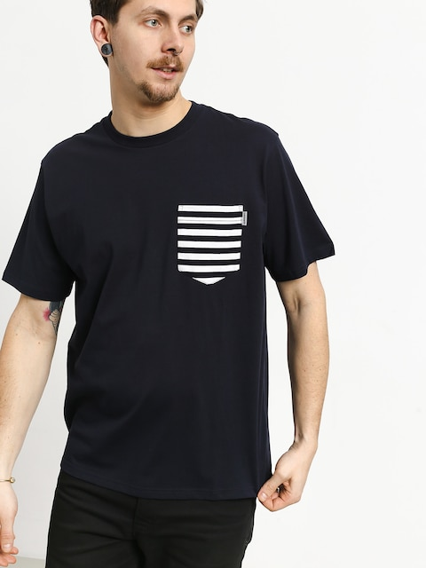 Carhartt WIP Contrast Pocket T-shirt (dark navy/barkley stripe dark navy/white)