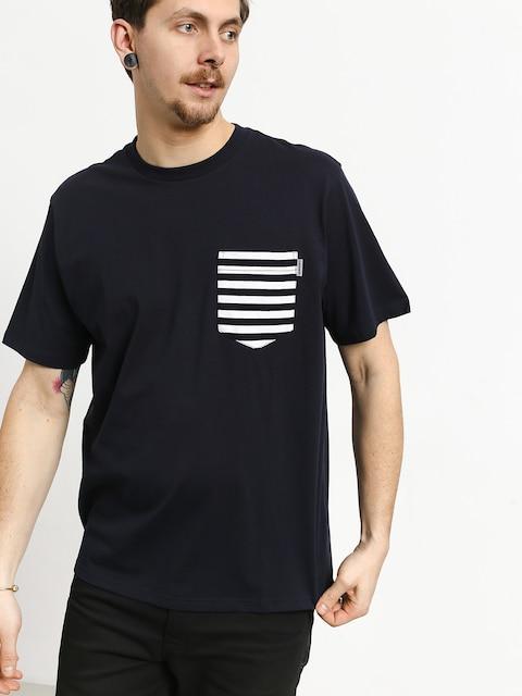 Carhartt WIP Contrast Pocket T-shirt (dark navy/barkley stripe dark navy/white)