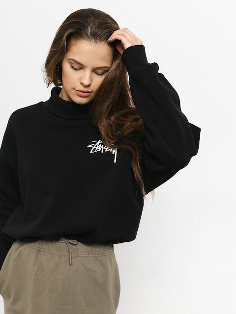 Stussy Weller Turtleneck Fleece Crew Sweatshirt Wmn (black)
