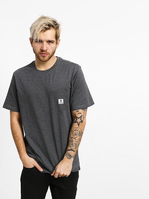 Element Basic Pocket Label T-shirt (charcoal heather)