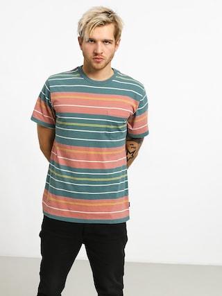RVCA Rusholme Stripe T-shirt (pine tree)