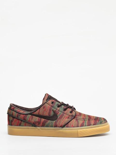 Nike SB Zoom Stefan Janoski Canvas Premium Shoes (multi color/velvet brown gum yellow)