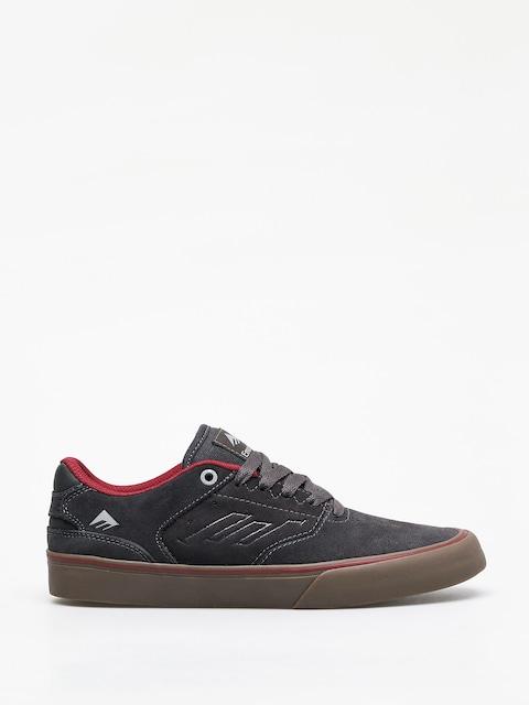 Emerica The Reynolds Low Vulc Shoes (dark grey/grey/red)