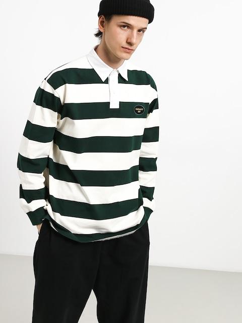 Carhartt WIP Roslyn Polo t-shirt (wax/bottle green)