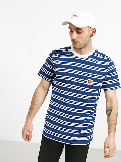 Turbokolor Stripes Pocket Heinz T-shirt (blue/white)