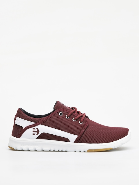 Etnies Scout Shoes (maroon/white)