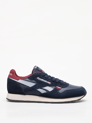 Reebok Cl Leather Mu Shoes (navy/red/stucco/grey)