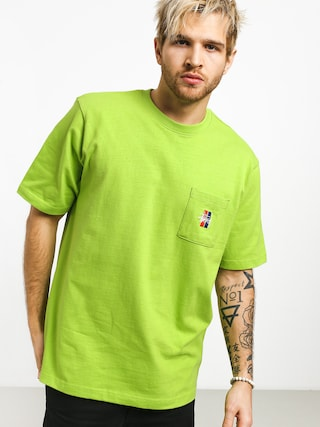 Stussy 2 Bar Stock Crew T-shirt (green)