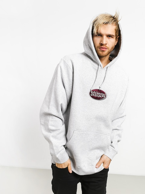 Stussy Oval App. HD Hoodie (ash heather)