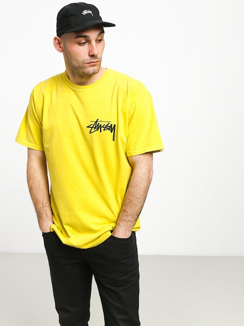 Stussy Stock Pig. Dyed T-shirt (lime)