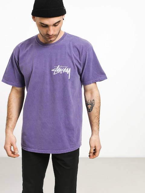 Stussy Stock Pig. Dyed T-shirt (purple)