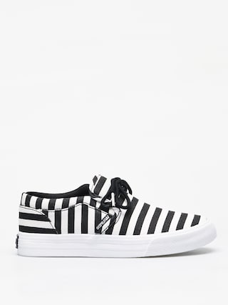 Supra Cuba Shoes (black/white stripe)