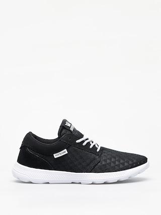 Supra Hammer Run Shoes (black emboss white)