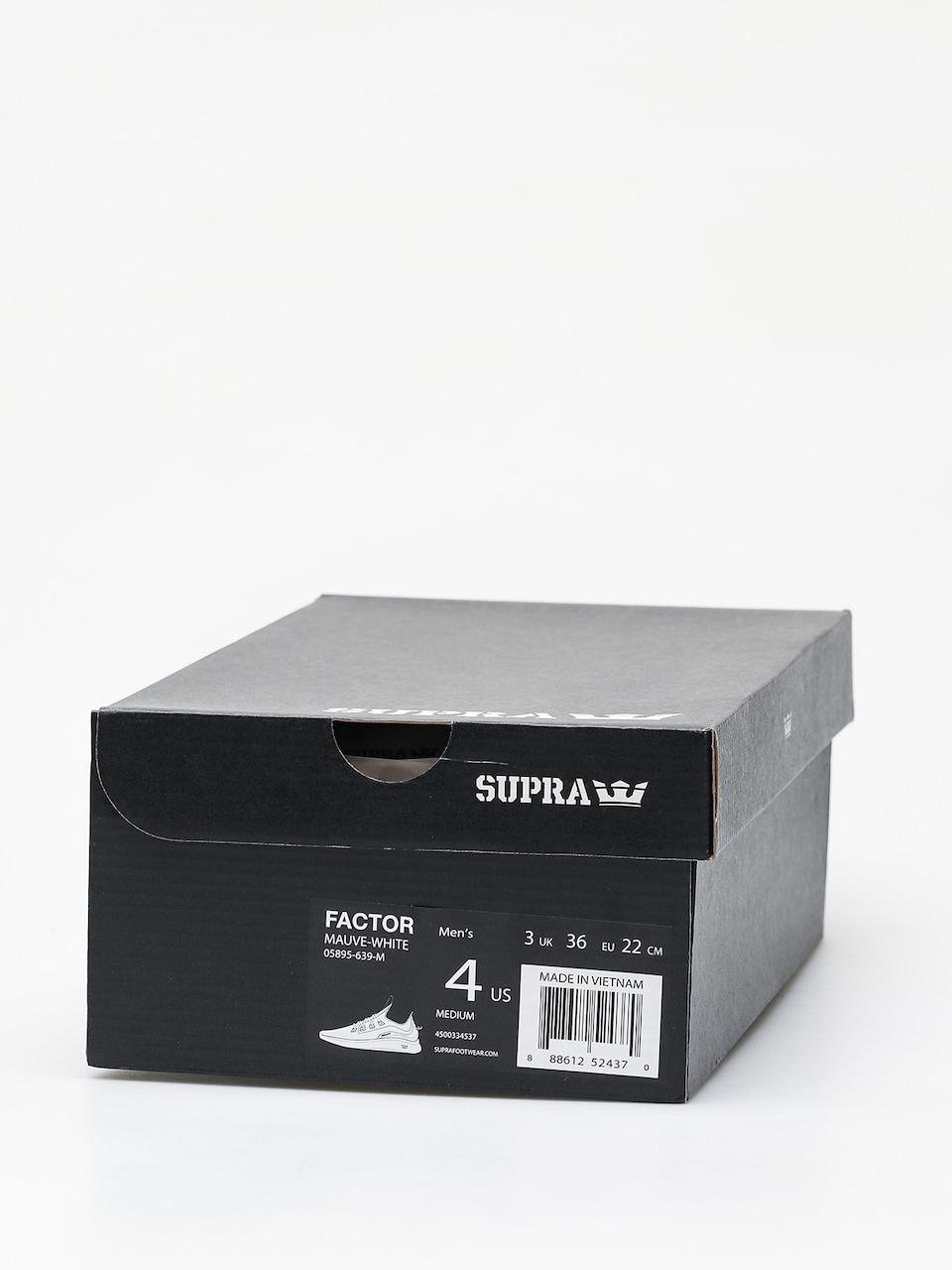 Supra Factor Mens Mauve White Fashion Trainers 8 UK