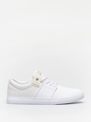 Supra Stacks Vulc II Shoes (white/gold white)