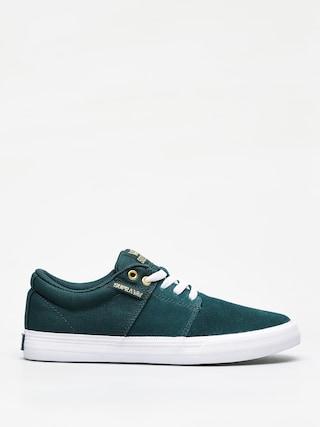 Supra Stacks Vulc II Shoes (evergreen white)