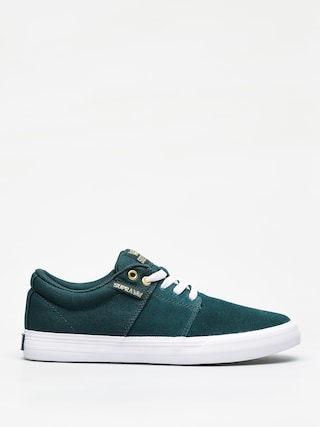 Supra Stacks Vulc II Shoes (evergreen white)