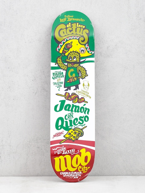 Mob Skateboards Fastfood Cactus Deck (green/white)