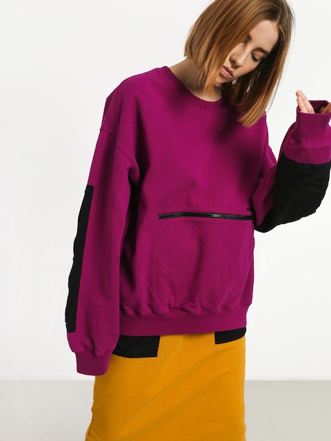 Stussy Simone Pocket Fleece Crew Sweatshirt Wmn (berry)