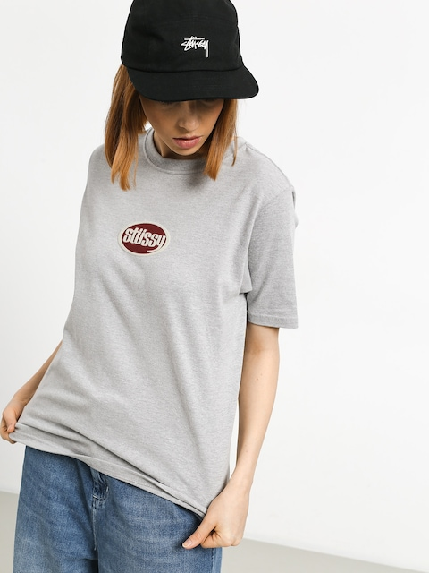Stussy Oval T-shirt Wmn (grey heather)