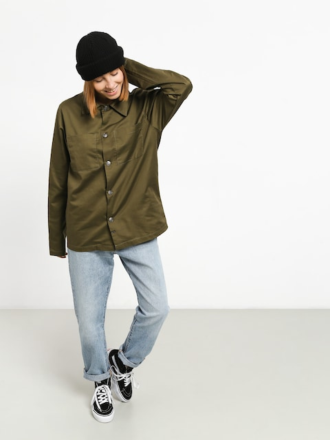 The Hive Military Overshirt Shirt Wmn (military)