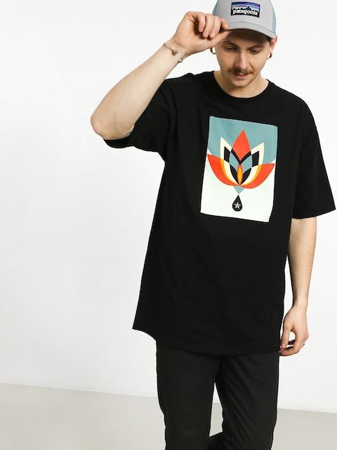 OBEY Geometric Flower T-shirt (black)