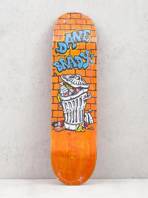 Polar Skate Dane Brady Trash Can Deck (orange)
