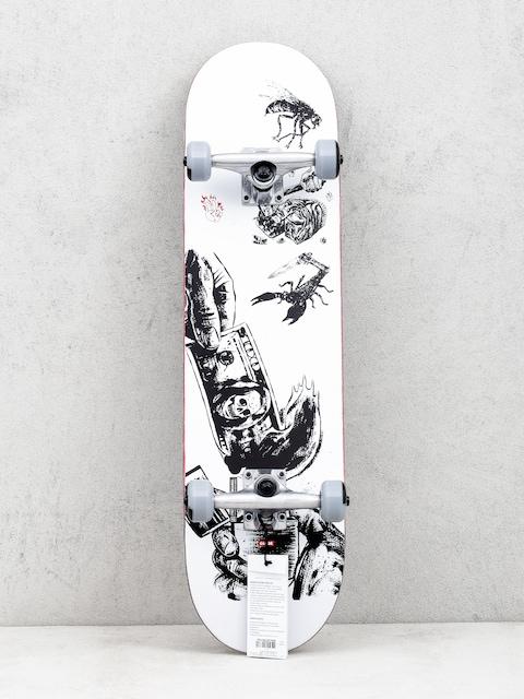 Globe G1 Hard Luck Skateboard (white/black)