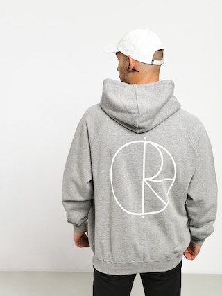 Polar Skate Stroke Logo ZHD Hoodie (heather grey)