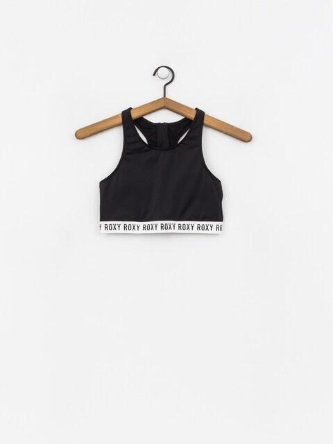 Roxy Fitness Full Crop Top Sld Swimsuit Wmn (true black)