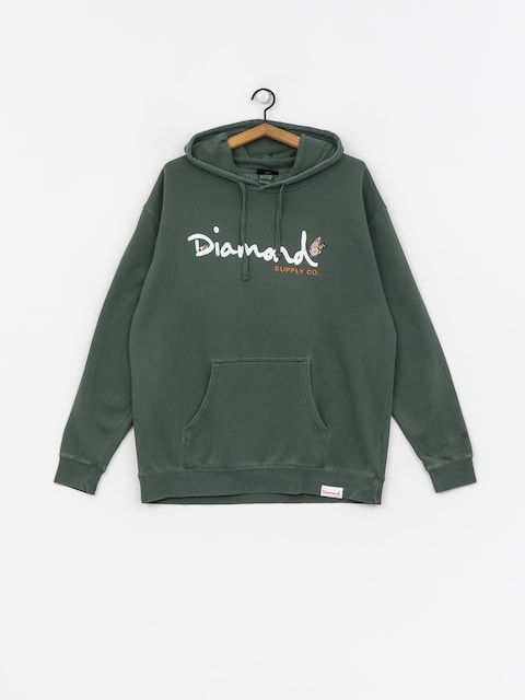 Diamond Supply Co. Paradise Og Script HD Hoodie (alpine green)