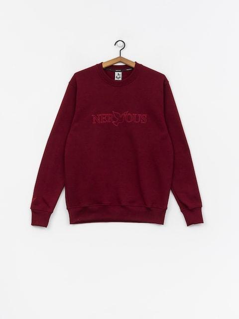 Nervous Classic Sweatshirt (maroon)