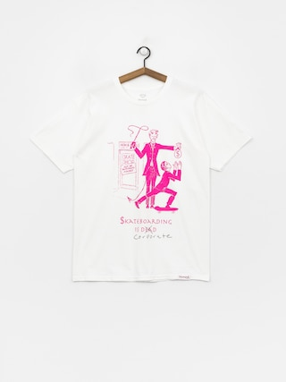 Diamond Supply Co. Skate Crime T-shirt (white/pink)