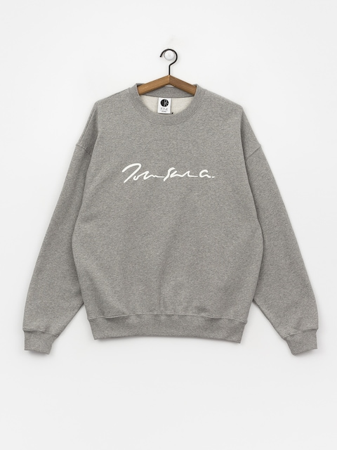 Polar Skate Signature Crewneck Sweatshirt (heather grey)