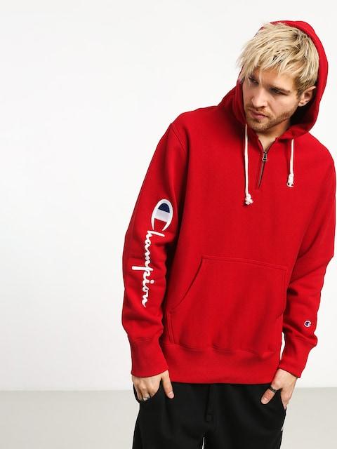 Champion Premium Reverse Weave Hooded Half Zip Sweatshirt ZHD Hoodie (htr)