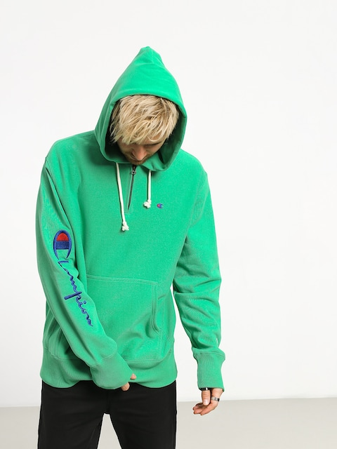 Champion Premium Reverse Weave Hooded Half Zip Sweatshirt ZHD Hoodie (mgn)
