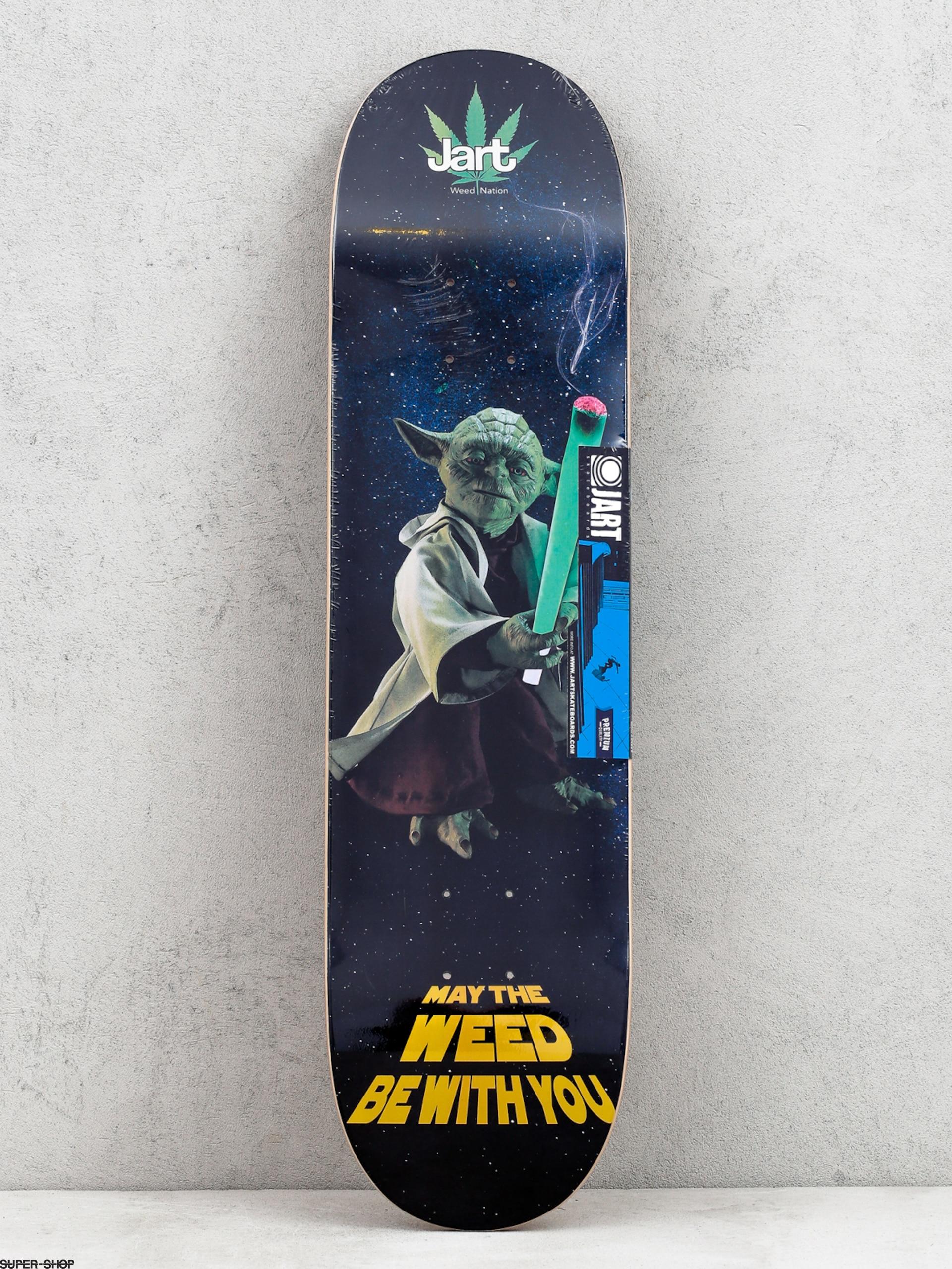 JART SKATEBOARDS Weed Nation Tavola da skateboard Yoda 21,3 x 80,9 cm LC