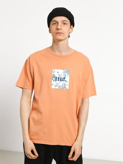 HUF Highline Box Logo T-shirt (canyon sunset)