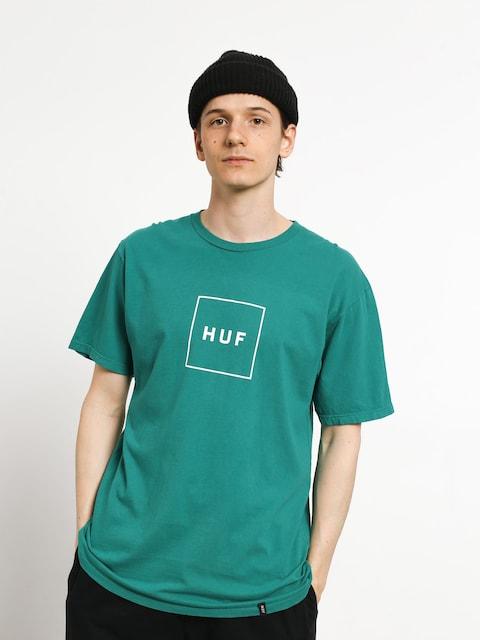 HUF Essentials Box Logo T-shirt (deep jungle)
