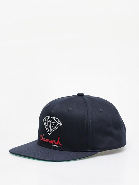 Diamond Supply Co. Og Sign Snapback ZD Cap (navy)