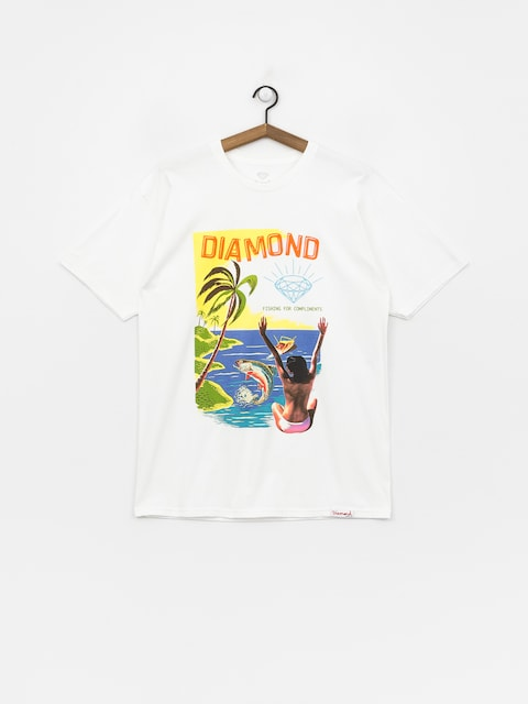 Diamond Supply Co. Fishing For Compliments T-shirt (white)