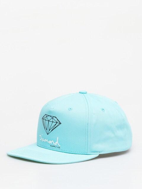 Diamond Supply Co. Og Sign Snapback ZD Cap (diamond blue)