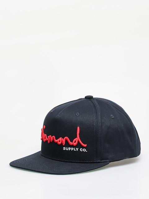 Diamond Supply Co. Og Script Snapback ZD Cap (navy)