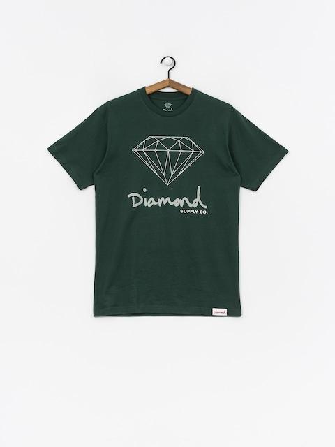 Diamond Supply Co. Og Sign T-shirt (hunter green)