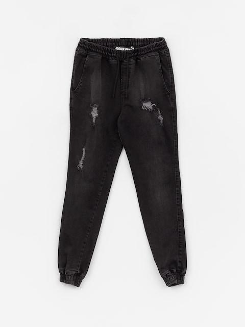 Diamante Wear Rm Jeans Jogger Pants (ripped black jeans)